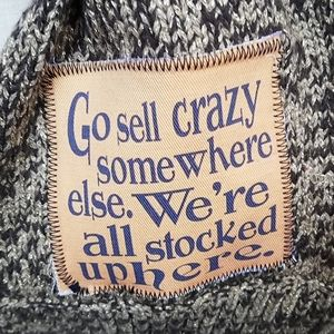 Handmade repurposed sweater scarf NWT